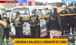 Crimen en el Callao: Asesinan de varios disparos en la cabeza a cobrador de combi