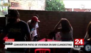 Tumbes: 15 intervenidos en un bar clandestino en vivienda