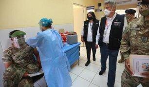 Cusco: presidente Francisco Sagasti supervisó  vacunación de soldados en el Vraem