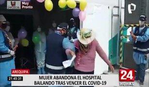 Arequipa: Madre de familia abandona el hospital danzando tras vencer el COVID-19