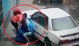 SJM: delincuentes cogotean a hombre y lo desmayan para robarle sus pertenencias