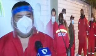 Chorrillos: Hoy vacunan a Bomberos y ancianos de 70 años