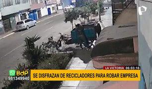 La Victoria: sujetos se disfrazan de recicladores para robar S/.20 mil de empresa