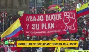 """Colombia: temen que protestas desencadenen una """"tercera ola"""" de contagios COVID-19"""