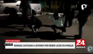 Moyobamba: rondas urbanas castigan a jóvenes que bebían en pleno toque de queda