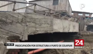 Vecinos de VES preocupados por estructura a punto de colapsar