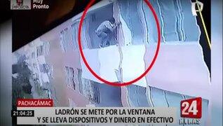 Robacasas utilizó ventanas para desplazarse de una vivienda a otra en Pachacámac