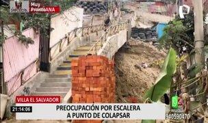 VES: vecinos piden ayuda para arreglar escalera que podría colapsar en cualquier momento