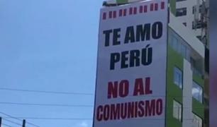 Reportan aparición de paneles en contra del comunismo en Cusco, Arequipa y Huancayo