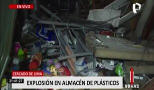 Cercado de Lima: explosión en almacén de plásticos deja varias casas afectadas