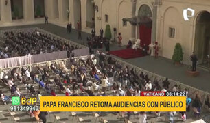 Vaticano: Papa Francisco retomó audiencias con presencia de fieles