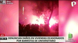 Vecinos aterrados por disturbios tras partido de la Copa Libertadores en el Monumental