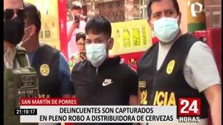 SMP: capturan a delincuentes que intentaron asaltar depósito de cerveza