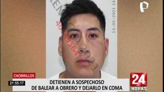 Cae delincuente que baleó a joven durante asalto en Chorrillos