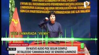 """Filtran nuevo audio de """"camarada Vilma"""" de Sendero Luminoso"""