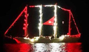 Chiclayo: BAP Unión enciende sus luces en mar de Pimentel
