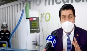 Municipalidad de San Isidro inaugura planta de oxígeno para recarga gratuita