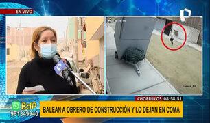 Chorrillos: sicario dispara en la frente a un obrero y lo deja en estado de coma