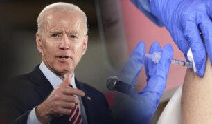 """Biden advierte a no vacunados en EEUU que su paciencia """"se está agotando"""""""