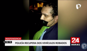 Independencia: caen miembros de banda con vehículos robados