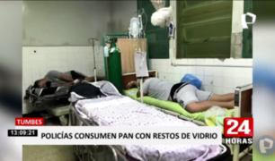 Tumbes: cuatro policías hospitalizados tras consumir comida con restos de vidrio