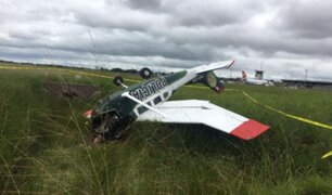 Pucallpa: avioneta de la Policía Nacional cayó minutos antes de llegar a su destino