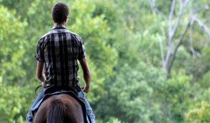 Jinete y su caballo pierden la vida tras ser atropellados por camión en Huancavelica