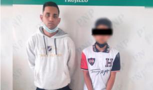 Caen sujeto y su cómplice menor de edad tras robar un celular en Trujillo