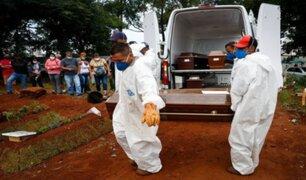 Brasil registró casi 2400 fallecidos por la COVID-19 en las últimas horas
