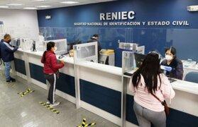 Reniec reanudará atención los sábados a nivel nacional