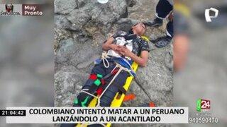 Pucusana: hombre salva de morir tras ser arrojado por acantilado de 25 metros de altura