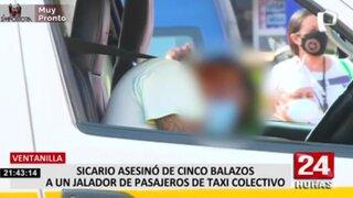 Ventanilla: matan  de cinco balazos a un jalador de pasajeros