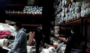 Lurín: detienen a siete sujetos que entraron a robar a un depósito de telas