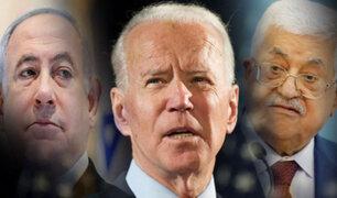 Joe Biden habla con presidentes de Israel  y Palestina en medio de bombardeos