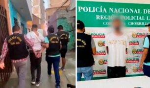 Chorrillos: intervienen a menor de 16 años cuando asaltaba con arma de fuego