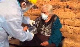 La Libertad: abuelita de 116 años recibió emocionada su vacuna contra la Covid-19