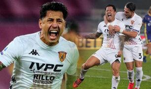Gianluca Lapdula anota nuevamente en el Benevento vs Crotone por la Serie A