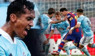 Celta de Vigo sin Renato Tapia vence al Barcelona en el Camp Nou
