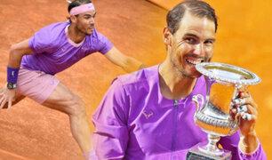 Nadal conquistó el Masters 1000 de Roma tras vencer a Djokovic