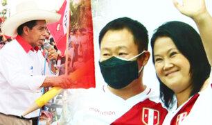 Sin plan ni debate: La campaña de Pedro Castillo y Keiko Fujimori del último sábado