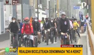 "Miraflores: realizan bicicleteada denominada ""No a Keiko"""