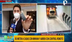 Robo en edificio de San Isidro: ladrones habrían clonado control remoto para ingresar a cochera