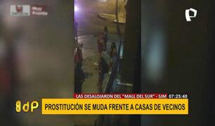 SJM: vecinos hartos de meretrices en las calles y amenazas de proxenetas