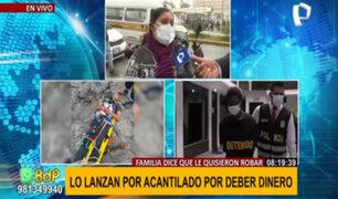 Hombre arrojado de acantilado de 25 metros: familia asegura que extranjero le robó celular