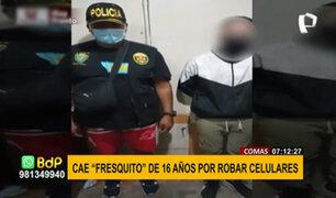 Comas: capturan a menor de 16 años que robaba celulares en el transporte público