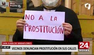 SJM: vecinos aseguran vivir intranquilos por la prostitución que los aqueja