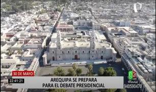 Arequipa se prepara para el debate presidencial este 30 de mayo