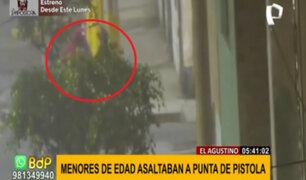 El Agustino: adolescentes asaltaban a mano armada en pleno toque de queda