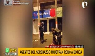 SJM: serenos sorprenden a ladrones y frustran robo a botica