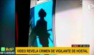 Vigilante asesinado en hotel de Lince: imágenes exclusivas y testimonio de trabajadores